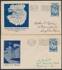 """#733 ON (2) DIFF """"ANTARCTIC"""" FDC CACHET COVERS BY FAIRWAY & HOBBY CACHET BT6621"""