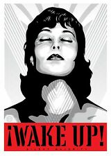 """Shepard Fairey !WAKE UP! silent majority A4 GLOSSY PHOTO POSTER 11.75"""" X 8.25"""""""
