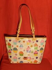 Dooney & Bourke Cupcakes Small Leisure Shopper Tote Bag White $238