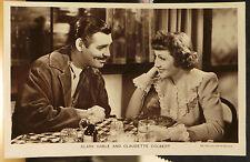 Clark Gable & Claudette Colbert -  postcard