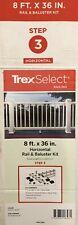 Trex Select Rail Kit 8' Foot (HORIZONTAL) Composite Classic White 18 Balusters