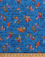 Quilter Ladies Quilting Sewing Shop Hop Blue Cotton Fabric Print BTY D507.10