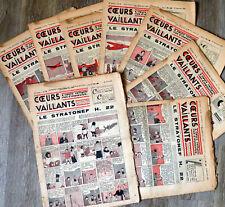COEURS VAILLANTS 1938 JO et ZETTE, TINTIN Le mystère de l'avion gris HERGE