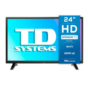 """Smart TV 24"""" HD, Android 7.1, TD Systems K24DLM8HS"""