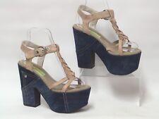 NEW MATERIA PRIMA by GOFFREDO FANTINI Platform Sandals Block Heel UK 5 RRP £189