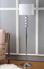 Modern Silver Floor Lamp Contemporary Crystal Lighting Sleek Designer Light NEW