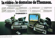 PUBLICITE ADVERTISING 065  1979  THOMSON  la vidéo caméra magnétoscope télé ( 2p