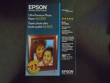 """New Epson Ultra-Premium Glossy Photo Paper (60) 4"""" x 6"""" Sheets Factory Sealed"""