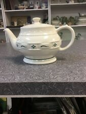 Longaberger Teapot Woven Tradition Green