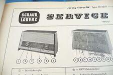Service Manual-Istruzioni per Schaub-Lorenz Savoy STEREO 10, 38110