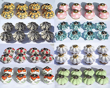 Ceramic Knobs Glass Pulls Handles for door drawer Cabinets Cupboard Wardrobe x8