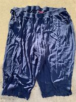 WOMAN WITHIN Crinkle Cut Casual NAVY BLUE Capris Pants Womens Sz 32W 👗gn1-m12