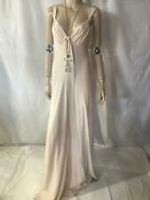 Temperley London silk blush flute  pink gown long dress maxi  US 6 UK 10 NWT