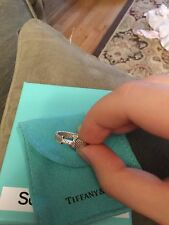 Tiffany & Co Somerset Mesh Ring Diamonds Size 6 Sterling Silver 925