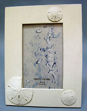 """Seashell Sand dollar Table/Top Photo Picture Frame~7""""X9""""~With Front Glass Panel"""