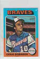 Autographed 1975 Topps MINI Craig Robinson - Braves