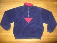 Vintage Men's Size XXL Tourney Windshirt Fleece Windproof Golf Pullover Blue Red