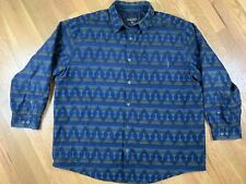 Woolrich 6422 Dk Denim Southwest Blanket Quilt Lining Shirt Jacket Men's 2XL