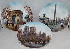 3 x Limoges Collectors Plates - Scenes of Paris - Louis Dali - vgc