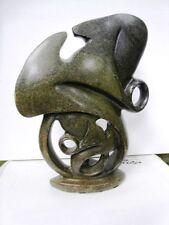 """FRANCK Myriam Sculpture moderne en pierre attribuée à  née en 1948 """"Enlacements"""""""