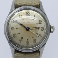 VINTAGE Wittnauer Mens Steel 31mm Military Style Wrist Watch cal.11ES Original