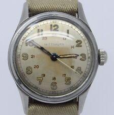 VINTAGE Wittnauer Mens Steel 31mm Military Style Wrist Watch cal.11ES Original