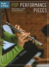 Pop Performance Pieces For Flute & Piano Sheet Music Book Coldplay Adele Elton