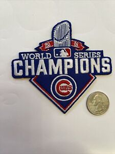 """Chicago Cubs Cubbies Embroidered Iron On Patch 4"""" X 3.5"""" MLB World Champs"""