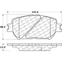 Disc Brake Pad Set-Convertible Front Centric 106.09081