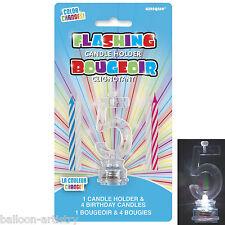 Cambio De Color Número 5 5 Fiesta De Cumpleaños intermitente Pastel Candle Holder Set