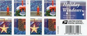 US Stamp Booklet Pane 2016 Holiday Windows  # 5145+ Mint Condition !