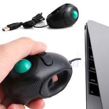 Portable USB Finger Handheld Mouse Wired Trackball Mice Tablet PC Laptop Desktop
