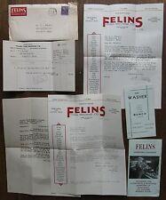 Felins Milwaukee invoices, brochures - Vegetable Washing Equipment
