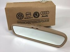 NEW VW B5 PASSAT W8 Mk4 Golf Jetta Rear View Mirror Auto Dim Beige 3B0857511J