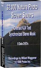 PC Bible Screen Saver W/ Music 86hr 5 DVDs 32000 Photos