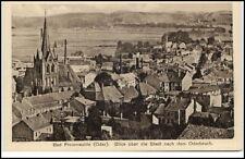 Bad Freienwalde Oder Postkarte ~1920/30 Blick über die Stadt nach dem Oderbruch