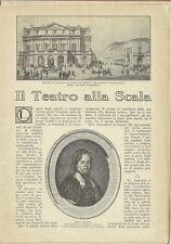 Libro 1950 Il Teatro alla Scala C. Gatti Gli Spettacoli dell'Arena C. Frattini