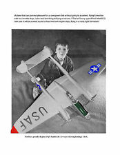 "Model Airplane Plan 1/12 Semi Scale 56"" Twin .19 P38 Stunt Plane C/L Plan & Note"