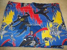 84x15 BATMAN Robin Blue Cartoon Character Window Valance {Vintage Fabric}