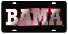 """Alabama Crimson Tide """" BAMA"""" Inlaid Laser Cut License Plate/ Auto Car Tag"""