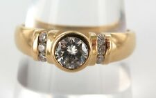 18CT YELLOW GOLD & 7 STONE DIAMOND RING 0.50CTS WITH VALUATION OF $4410.