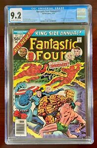 FANTASTIC FOUR ANNUAL #11 CGC 9.2 NM- (MARVEL 1976) 🔑 INVADERS APPEARANCE
