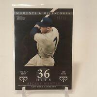 2007 Topps Moments & Milestones Black Mickey Mantle 21/29 SSP #165 NY Yankees