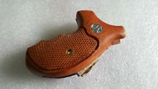 COOL  Grip For S&W J FRAME, BODYGUARD, ROUND BUTT, M60 CHECKERED WOOD