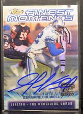 2009 Topps Finest Moments Refractor GERMANE CROWELL Lions Autograph AUTO MINT