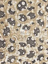 CIRCULAR BOMBSHELL SEQUINS GUIPURE LACE FABRIC - Matte Gold/Black - BTY DRESS