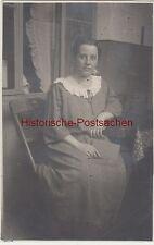 (F8202) Orig. Foto Frau Harnisch in einer Wohnung in Essen 1925
