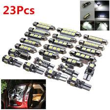 23Pcs/Set White Car LED Interior Lights Map Reading License Plate Lights Lamps