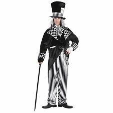 Mens Totally Mad Hatter Costume Plus Size Alice in Wonderland Halloween Outfit
