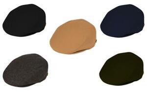Men's Classic Wool Blend Flat Ivy Newsboy Gatsby Cabbies fitted Hat Cap